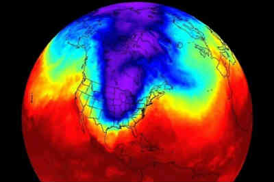 Illustration of polar vortex