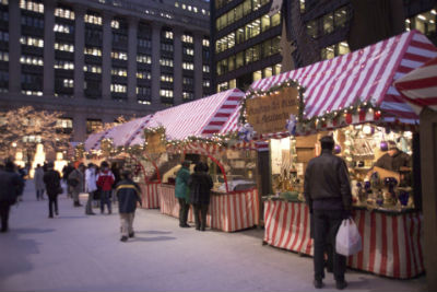 image of outdoor holiday market